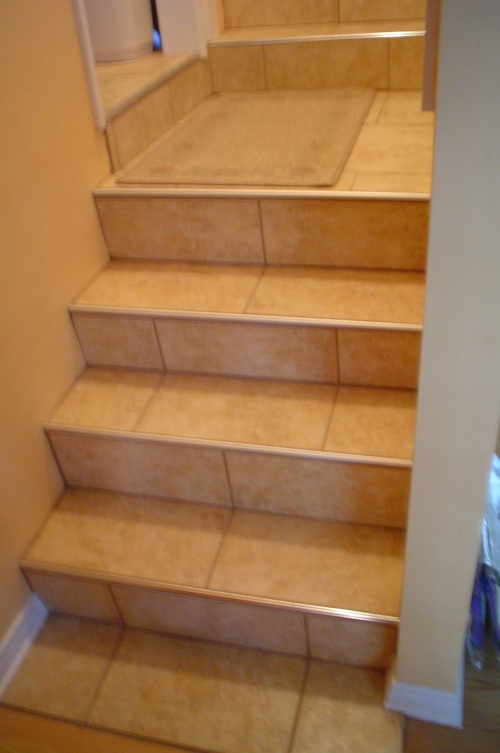 Tile Stairs - Bullnose stair step tile